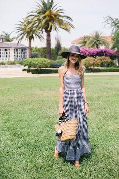 Little Blonde Book A Fashion Blog by Taylor Morgan: Gingham Maxi Dress