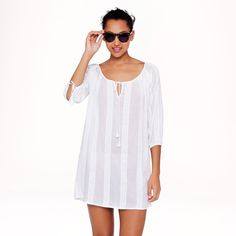 e2b43dee3d JCrew White lace stripe tunic dress Like new condition. It's a bit short  for a dress, but perfect as a beach cover-up, or with leggings.