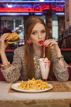 Fast food fashion editorial styled by Alexandra Osina