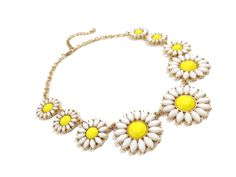 statement necklaces | ... Necklaces ⁄ Daisy Floral Bauble Stone Bridal Statement Necklace