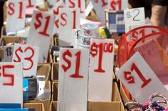 Pricing Garage Sale Items (includes website for Salvation Army's price recommendations.)