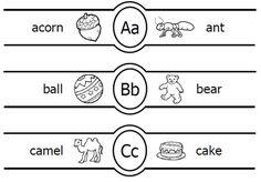 Letter Watches printable alphabet letter bracelets for kids