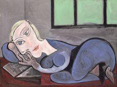 Pablo Picasso, Femme couchée lisant, 1939
