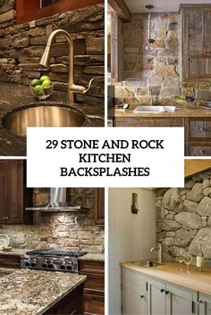 23 best stone kitchen backsplash images diy ideas for home rh pinterest com