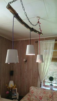 Hjemmelagd taklampe