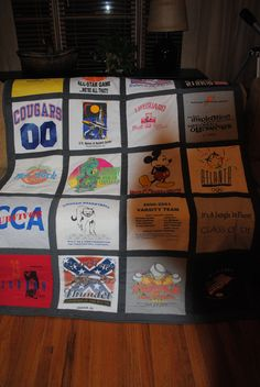 30th birthday gift...t-shirt quilt made from his old shirts