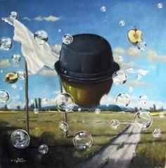 Ein Selbstbewusstsein, Öl auf Leinwand, 70x70