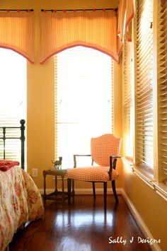 Chair upholstery and custom window valances