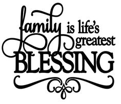 Family is Life's Greatest Blessing Vinyl Decal Sticker