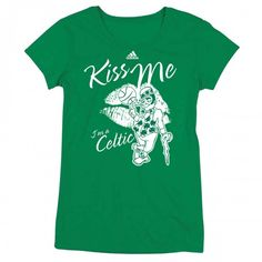 hoping i receive this one just in time for st pattys day!!!!    adidas Celtics Womens St. Patrick's Day Kiss Me T-shirt