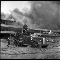 Fire in the Bronx on Southern Boulevard, 1967. 11 firefighters were injured combating this fire.