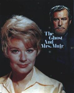 The Ghost And Mrs. Muir (1968-70)  TV series based on the 1947 movie with Rex Harrison and Gene Tierney. The TV version stars Hope Lange as Mrs. Muir and Edward Mulhare as Capt. Daniel Gregg. Carolyn Muir, her two kids and housekeeper Martha move into a seaside cottage in New England. The former owner, Captain Gregg died a hundred years ago and haunts the place. She and her son can see and hear him. His relative Claymore also sees and hears him.