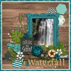For this LO I used Great Outdoors: Adventure by Kristin Cronin-Barrow Scrapbook Layout Sketches, Scrapbook Designs, Scrapbook Albums, Scrapbooking Layouts, Scrapbook Cards, Digital Scrapbooking, Vacation Scrapbook, Wedding Scrapbook, Photo Layouts