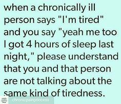 """THIS. There is nothing more frustrating than hearing """"I know how you feel"""" because you don't even know the half of it."""