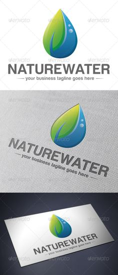 Natural Water - Logo Design Template Vector #logotype Download it here: http://graphicriver.net/item/natural-water-logo-template/5192234?s_rank=1170?ref=nexion