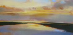 """Gentle Current"" by Craig Mooney.  24"" x 48"" Oil.  *SOLD* www.maine-art.com."