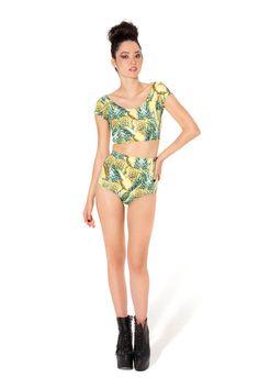 Pineapple Nana Suit Bottom - LIMITED › Black Milk Clothing