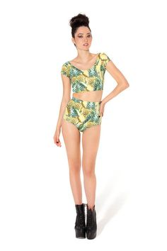 Pineapple Nana Suit Bottom - LIMITED › Black Milk Clothing