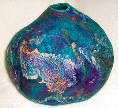 Wool Felt Vessel by Suzanne Higgs