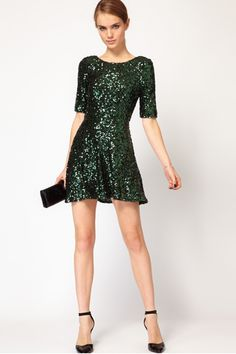 ASOS French Connection Sequin Skater Dress, $281.00