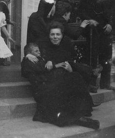 Grand Duchess Olga Alexandrovna with one of her relative in Denmark