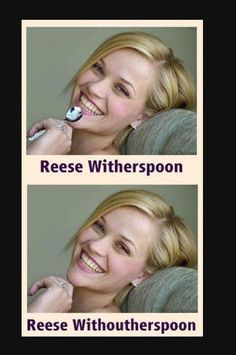 Reese with her spoon and without!