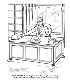 Executive Coloring Book See Pages From The 1961 Hit