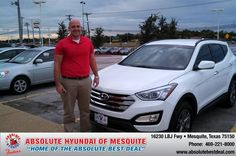 #HappyAnniversary to Brandon Andrews on your new car  from Steve Ragan at Absolute Hyundai!