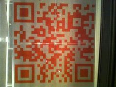 QR Codes are very forgiving.  4x4 Halloween QR code displays story episodes on each scan. #qrchat