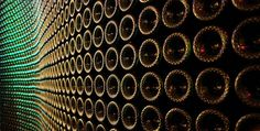 Wall of Champagne Bottles - Domaine Chandon - Yountville, CA