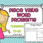 Common Core Place Value Word Problems {Numbers 10-20}$2    Standards: K.NBT & 1.NBT    Inside the packet:  -1 Example page  -10 Place Value Word Proble...