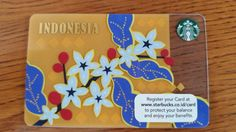 """The new collection """"Batik"""" Starbucks Card from Indonesia"""