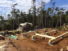 How to: Build a Rock Solid, Low Cost Off Grid Cabin Foundation Building A Small Cabin, Small Cabin Plans, Building A Shed, Building Ideas, Building Quotes, Building Foundation, House Foundation, Tiny House Cabin, Up House