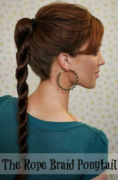 Rope Braid Ponytail THIS HAS OFFICIALLY BEEN MY ALL-TIME FAVORITE & SUPER EASY HAIRSTYLE 2 DO!