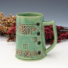 Slab mug inspiration! Celadon!!