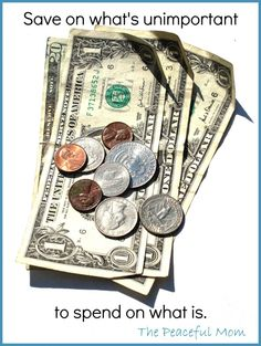 Save on What's Unimportant to spend on what is - Great blog about living on less than $28,000/yr