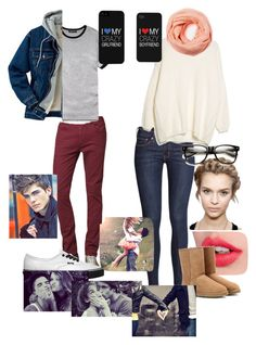"""""""autumn date"""" by kelseyisabelll ❤ liked on Polyvore"""