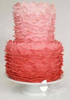 Featured Wedding Cake: Fondant Flinger; Daily Wedding Cake Inspiration (New!). To see more: http://www.modwedding.com/2014/07/29/daily-wedding-cake-inspiration-4/ #wedding #weddings #wedding_cake