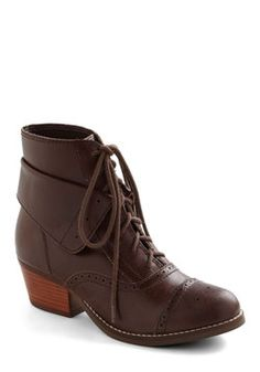 Ty better come home soon...we might go broke!    Dearest Boot in Brown, #ModCloth