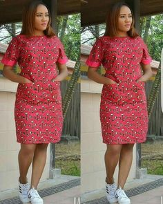 african dress styles African Ankara knee length Dress handmade women pleased waist dress with sides pockets. Dress with unique multi color office, party and all occasions A copy of our size chat has been added African Fashion Ankara, Latest African Fashion Dresses, African Print Fashion, Africa Fashion, African Style, Short African Dresses, African Print Dresses, African Party Dresses, African Prints