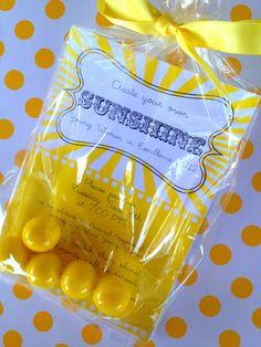 LOVE this invitation.  Clear bags and matching gumballs. #invitation #youngwomen