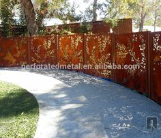Source decorative corten steel garden fencing on m.alibaba.com
