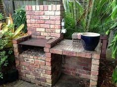 Diy outdoor grill bbq how to build Ideas Brick Built Bbq, Brick Grill, Built In Grill, Brick Projects, Backyard Projects, Backyard Ideas, Craft Projects, Garden Bbq Ideas, Landscaping Ideas