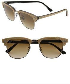 Ray-Ban 'Clubmaster' 49mm Sunglasses #sunglasses #womens #summer