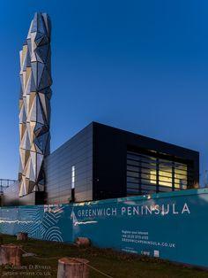 Optic Cloak - Greenwich Peninsula Energy Centre