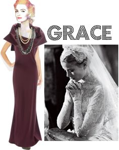 """Grace Kelly Doll"" by linda-susan-felix-porter ❤ liked on Polyvore"