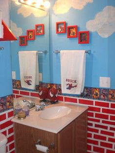 Spider Man Bathroom Items Sons Spiderman Bathroom Bathroom Designs Decorating Ideas
