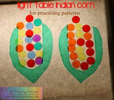 Still Playing School: Indian Corn Patterns on the Light Table