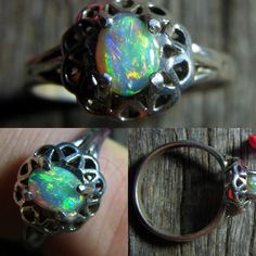JUST LISTED this superb 6 x 4 mm 0.42 carat Lightning Ridge opal in a Sterling Silver Setting. Cut, polished and set by 'yours truly'! see all my cabochons and set stones at www. gemniopals.com.au and click on 'Online Store' #opalsaustralia