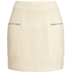 Whistles Kawaii Bobble Wool Skirt (£44) ❤ liked on Polyvore featuring skirts, mini skirts, bottoms, saias, faldas, ivory, fitted skirts, wool mini skirt, brown skirt and short skirts